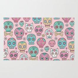 Sugar Skulls on Pink Rug