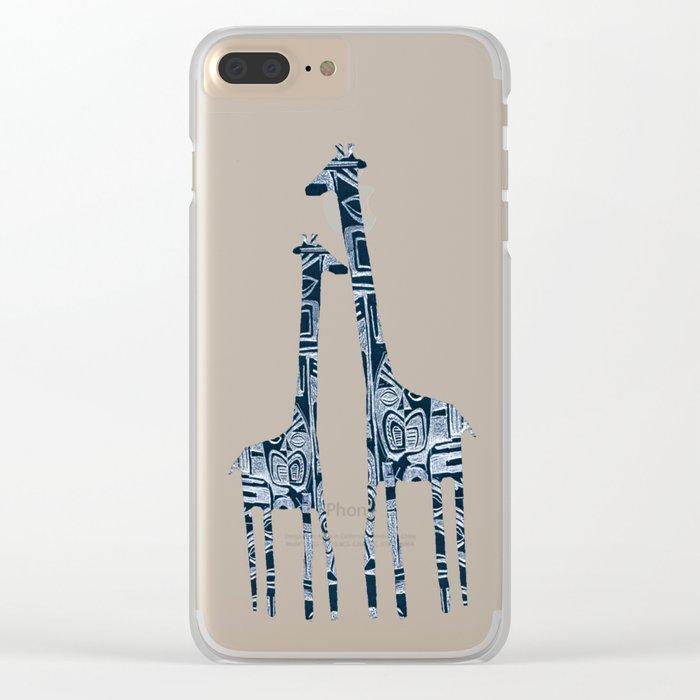 giraffes Clear iPhone Case