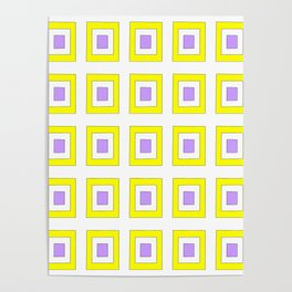Tribute to mondrian 8- piet,geomtric,geomtrical,abstraction,de  stijl, composition. Poster