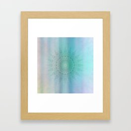 Mandala sensual light Framed Art Print