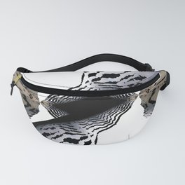skyscraper illusions black and white abstract art Fanny Pack