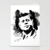 jfk Stationery Cards featuring John F. Kennedy JFK by viva la revolucion