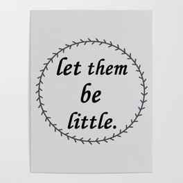 let them be little billy dean Songs lyrics Poster
