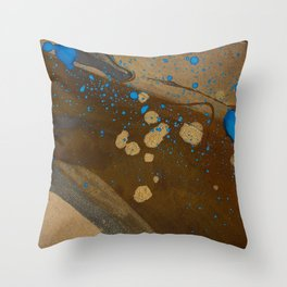 joelarmstrong_rust&gold_072 Throw Pillow
