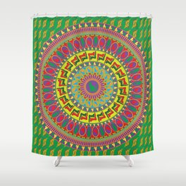 Pussy Medallion Shower Curtain
