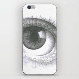 Grayscale eye iPhone Skin