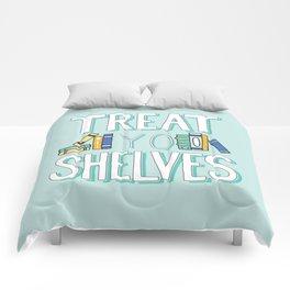 Treat Yo Shelves - Book Nerd Quote Comforters