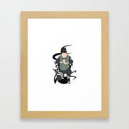Born a Genius, Lazy by Choice Framed Art Print