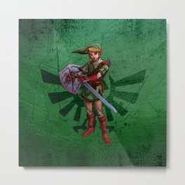 Legend of Zelda-Link Metal Print