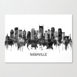 Nashville Tennessee Skyline BW Canvas Print