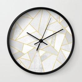 White Stone Wall Clock