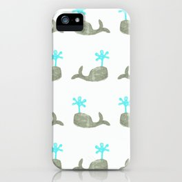 Which Way Whales iPhone Case