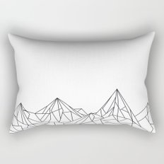 Night Court Mountain Design Rectangular Pillow