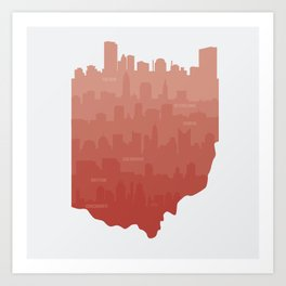 Ohio Skylines Art Print