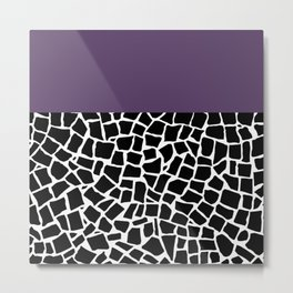 British Mosaic Purple Boarder Metal Print