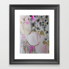 Spots or Dots Pink Abstract Painting Framed Art Print