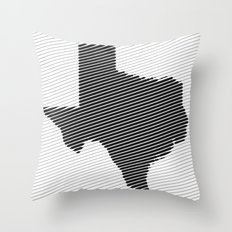 Texas Line Throw Pillow