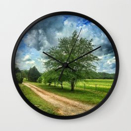 Dirt Path Wall Clock