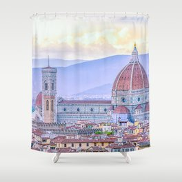 Cathedral of Santa Maria del Fiore  Florence Italy Shower Curtain