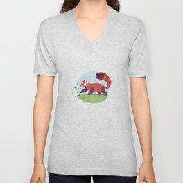 Red Panda cub Unisex V-Neck