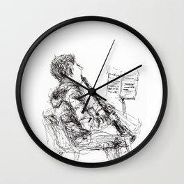Boy with clarinet Wall Clock