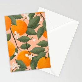 fresh citrus Stationery Cards
