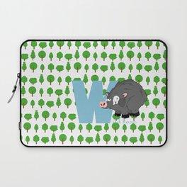 w for wild boar Laptop Sleeve