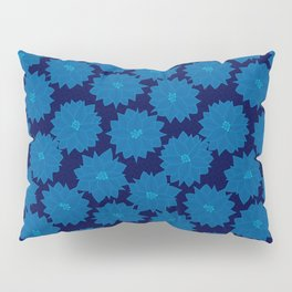 Poinsettia in Blues Pillow Sham