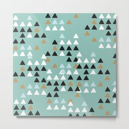 Scandinavian geometric triangle Metal Print