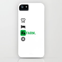 Eat Sleep Farm Repeat Farmer Farming Funny Cool Gift iPhone Case
