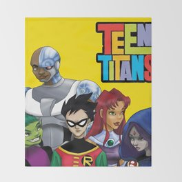 Teen Titans Throw Blanket