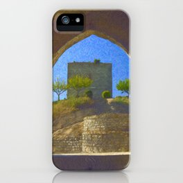Portuguese castle window iPhone Case