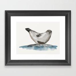 Seal-ing Seal Framed Art Print