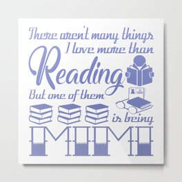 Reading Mimi Metal Print