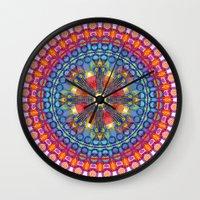 mandela Wall Clocks featuring Mandela by Casey Byars