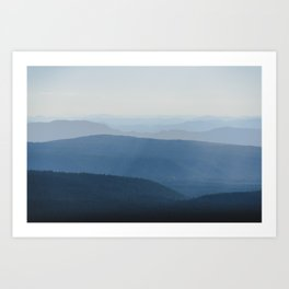 Smoky Blue Mountains Art Print