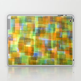 Rug Out Of Orange, Blue And Green Squares  Laptop & iPad Skin