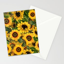 Vintage & Shabby Chic - Noon Sunflowers Garden Stationery Cards