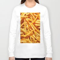 fries Long Sleeve T-shirts featuring French Fries by I Love Decor