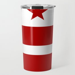 Washington DC District Of Columbia Flag Travel Mug