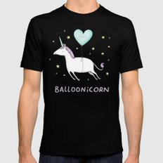 Balloonicorn Black Mens Fitted Tee LARGE