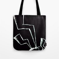 the flash Tote Bags featuring Flash! by Iotara