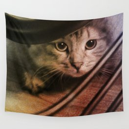 Crouching Kitty  Wall Tapestry