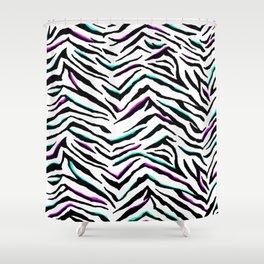 Zazzy Zebra Animal Print Shower Curtain
