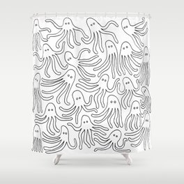 A Party of Handicapped Octopi II Shower Curtain
