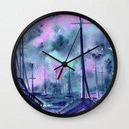 ghost boats Wall Clock