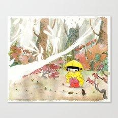 in the rain 1 Canvas Print