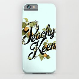 Peachy Keen : Mint iPhone Case