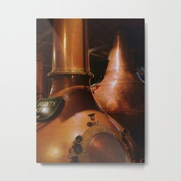 Copper and Whiskey Metal Print