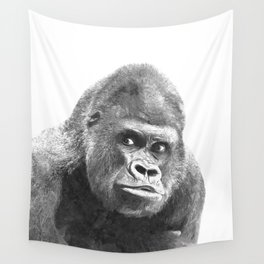 Black and White Gorilla Wall Tapestry